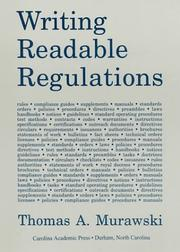 Cover of: Writing Readable Regulations |