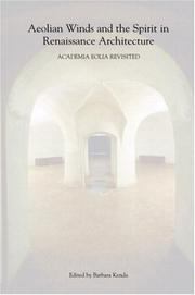 Cover of: Aeolian Winds and the Spirit in Renaissance Architecture | Barbara Kenda