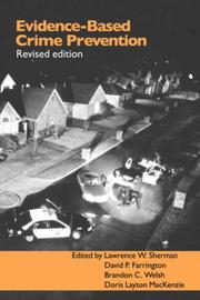Cover of: Evidence-Based Crime Prevention