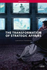 Cover of: The Transformation of Strategic Affairs (Adelphi Paper)