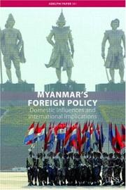 Cover of: Myanmar's Foreign Policy
