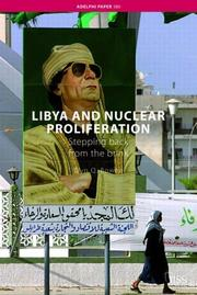 Cover of: Libya and Nuclear Proliferation