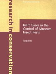 Cover of: Inert Gases in the Control of Museum Insect Pests (Research in Conservation) | Charles Selwitz