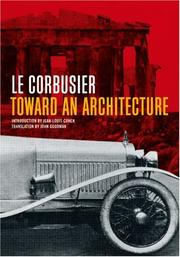 Cover of: Toward an Architecture (Getty Research Institute) | Le Corbusier