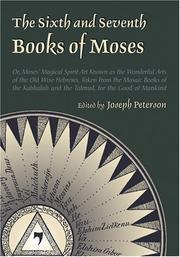 Cover of: Sixth and Seventh Books of Moses
