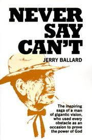 Cover of: Never Say Can't