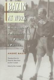 Cover of: Bazin at work