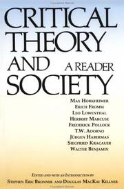 Cover of: Critical Theory and Society
