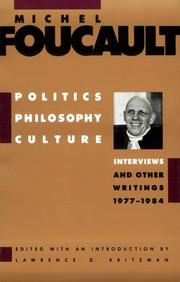 Cover of: Politics, philosophy, culture