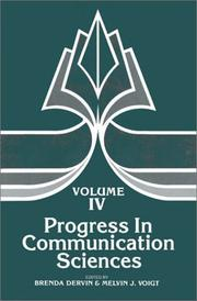 Cover of: Progress in Communication Sciences, Volume 4 | Brenda Dervin