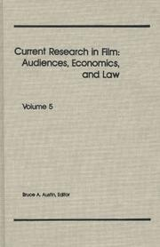 Cover of: Current Research in Film | Bruce A. Austin