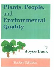 Cover of: Plants, People, and Environmental Quality |