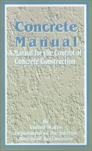 Cover of: Concrete Manual