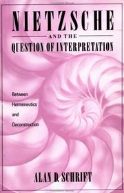 Cover of: Nietzsche and the question of interpretation
