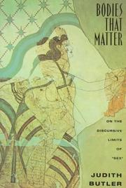 Cover of: Bodies that matter