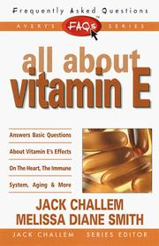 Cover of: FAQs All about Vitamin E (Freqently Asked Questions) | Melissa Diane Smith