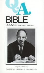Cover of: Bible Quizzes to a Street Preacher | Charles Mortimer Carty
