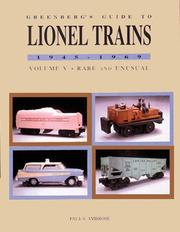 Greenbergs Guide to Lionel Trains, 1945-1969