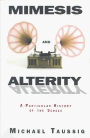 Cover of: Mimesis and alterity