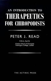Cover of: Introduction to Therapeutics for Chiropodists