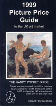 Cover of: The 1999 Picture Price Guide