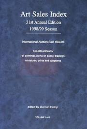 Cover of: The Art Sales Index 1998-99 (Art Sales Index)