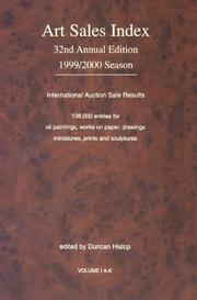 Cover of: The Art Sales Index 1999-2000 (Art Sales Index)