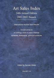 Cover of: The Art Sales Index 2001-2002