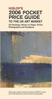 Cover of: Hislop's 2006 Pocket Price Guide to the UK Art Market