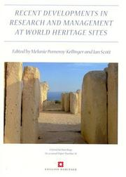 Cover of: Recent Developments In The Research And Management at World Heritage Sites (Oxford Archaeology Occasional Paper) (Oxford Archaeology Occasional Paper) |
