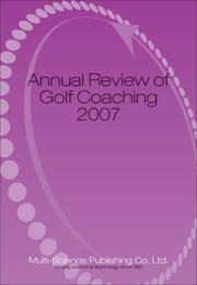 Cover of: Annual Review of Golf Coaching 2007