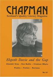 Cover of: Elspeth Davie and the Gap (Chapman Magazine)