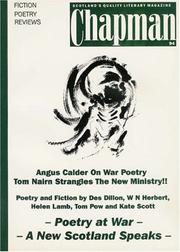 Cover of: Poetry at War (Chapman Magazine)