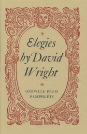 Cover of: Elegies (Greville Press Pamphlets)