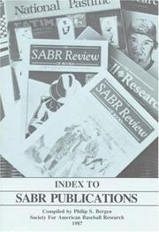 Cover of: Index to SABR Publications | Society for American Baseball Research