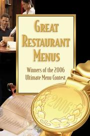 Great Restaurant Menus by