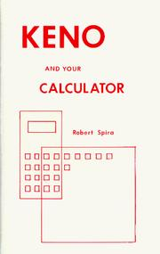 Cover of: Keno and Your Calculator
