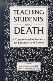 Cover of: Teaching Students About Death | STEVENSON