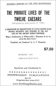 Cover of: The Private Lives of the Twelve Caesars | Pierre-François Hugues d