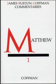 Cover of: Commentary On Matthew | James B. Coffman