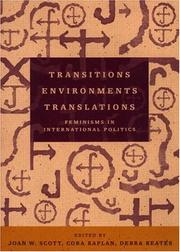 Cover of: Transitions Environments Translations | Joan W. Scott