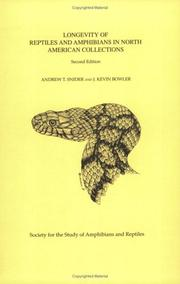 Cover of: Longevity of Reptiles & Amphibians | Snider