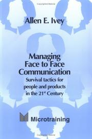Cover of: Managing Face to Face Communication