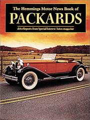 Cover of: The Hemmings Motor News Book of Packards (Hemmings Motor News Collector-Car Books) |