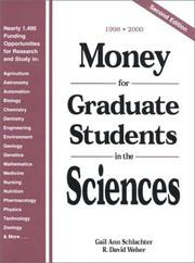 Cover of: Money For Graduate Research And Study In The Sciences 1998-2000 (DISCONTINUED (Money for Graduate Research)) | Gail A. Schlachter