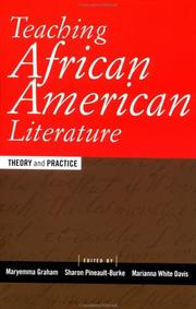 Cover of: Teaching African American Literature