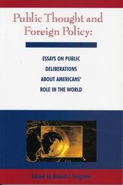 Cover of: Public Thought and Foreign Policy | Robert J. Kingston