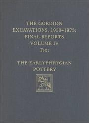 Cover of: The Gordion Excavations, 1950-1973: Final Reports Illustrations  | G. Kenneth Sams