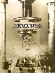 Cover of: Concrete Testing |