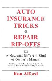 Cover of: Auto Insurance Tricks & Repair Rip-Offs
